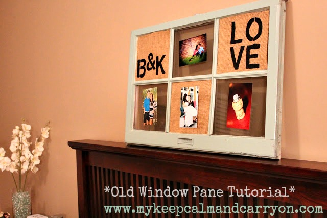 KEEP CALM AND CARRY ON: SAW IT. PINNED IT. DID IT: DIY WINDOW PANE DECOR