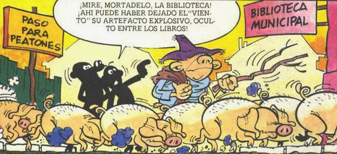 gorrinos a la biblioteca