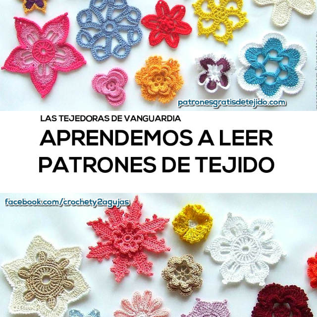 Aprendemos a leer patrones de tejido paso a paso / Gratis | Crochet ...