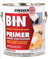 Zinsser BIN primer before paint.