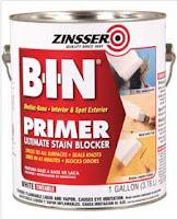 Zinsser BIN primer before paint.