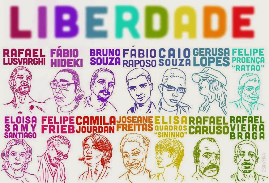 Sketches of some of the activists who have been jailed since June 2013.