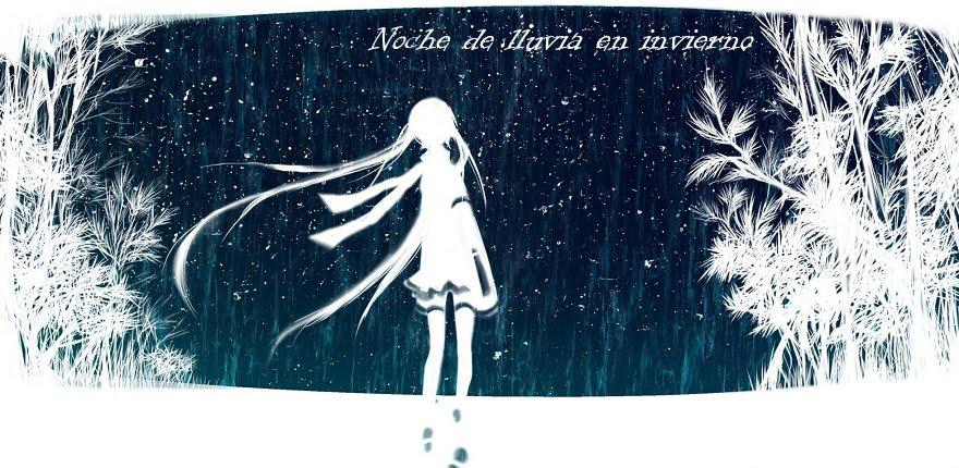 Noche de lluvia en invierno