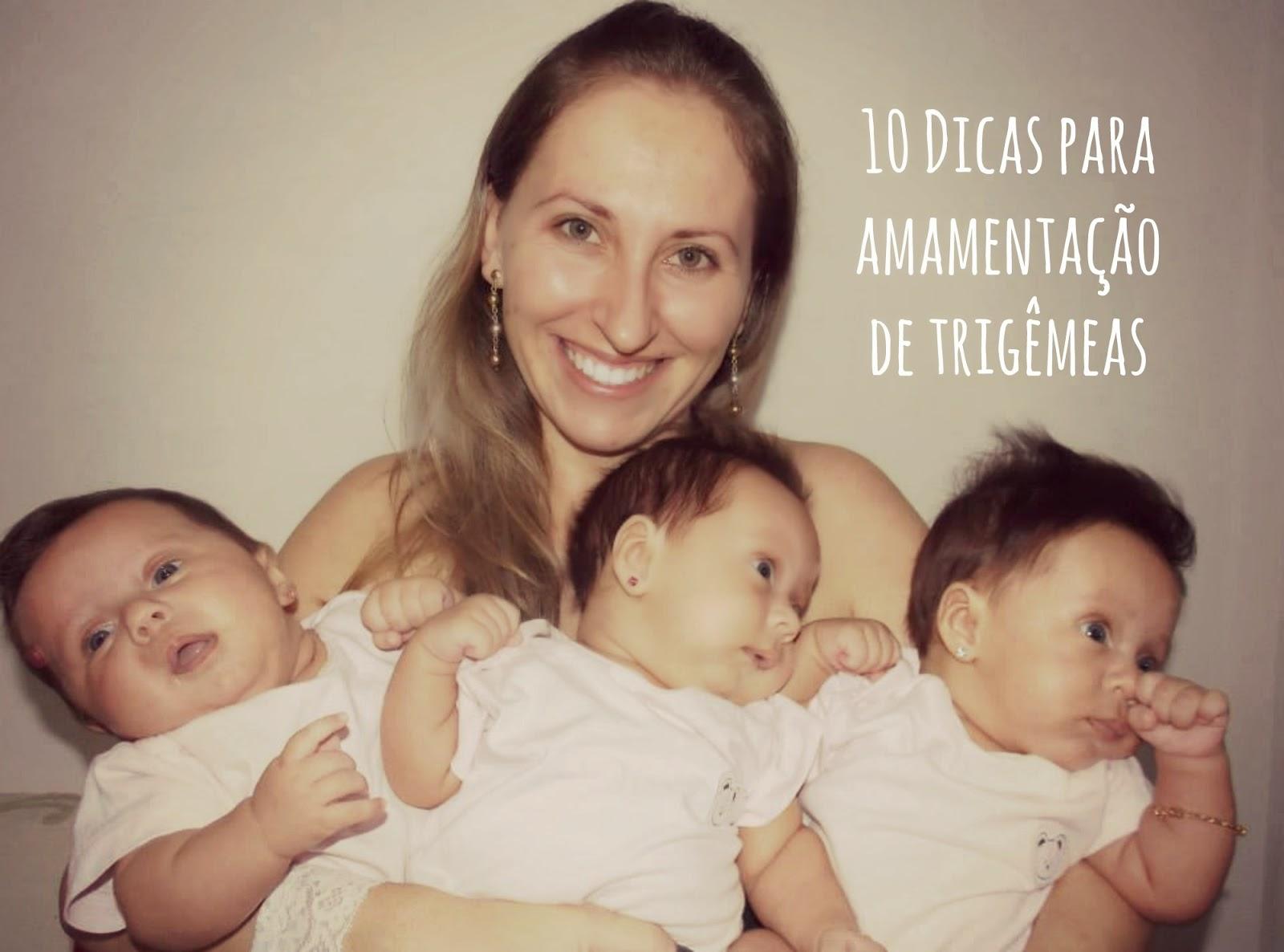 10 Dicas para amamentação de trigêmeas