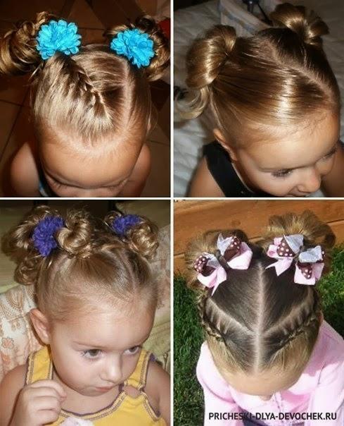 Детские прически на тонкие волосы средней длины
