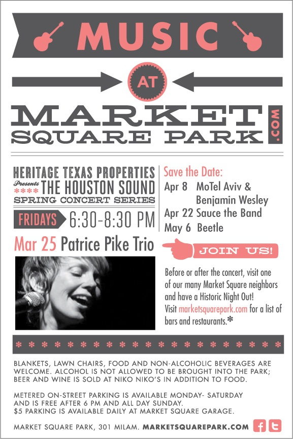 Heritage Properties presents The Houston Sound Spring Concert Series