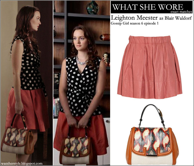 WHAT SHE WORE: Leighton Meester as Blair Waldorf in Gossip Girl ...