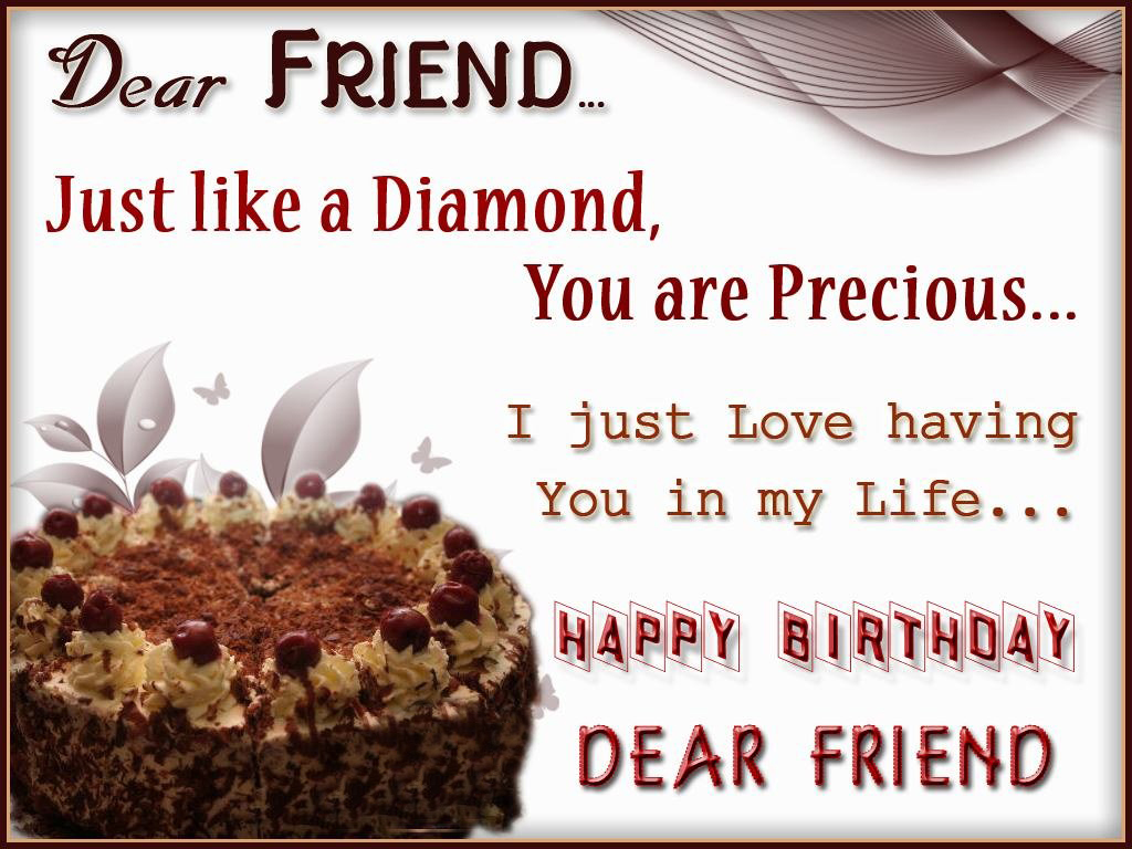 Dear Friend Happy Birthday to You Images
