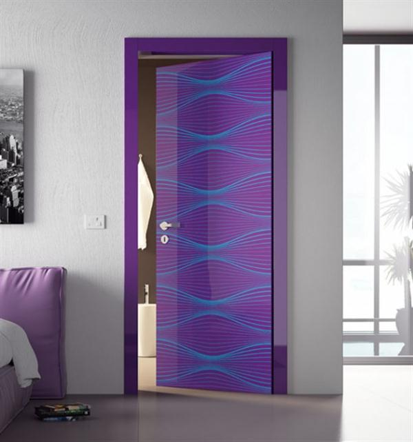 Modern homes door paint designs new home designs for Painted interior door designs