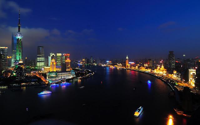 Noche en Shanghai, China - Paisajes de Ciudades