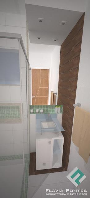 Flavia Pontes Arquitetura Janeiro 2014 -> Banheiro Pequeno Social