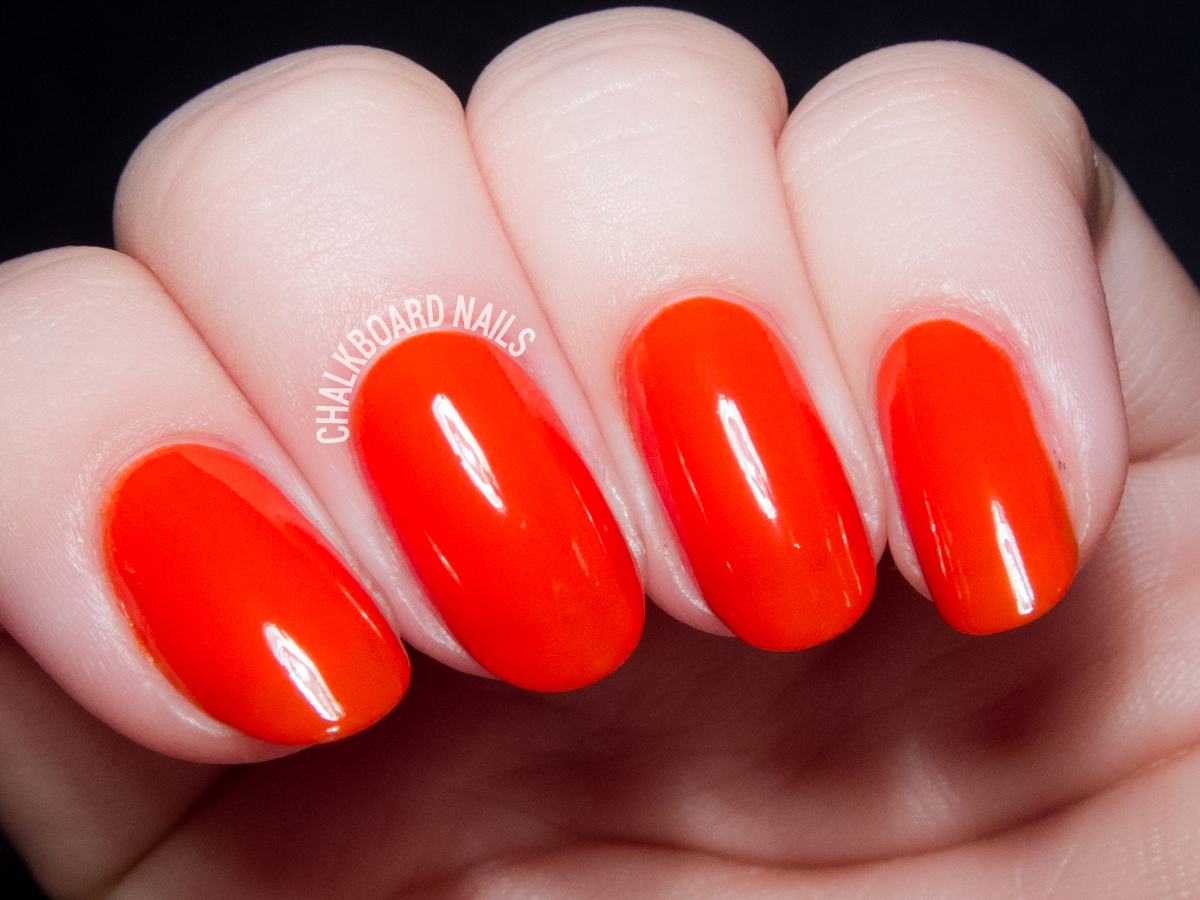 Nails Inc Judo Red via @chalkboardnails