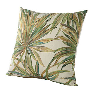coastal tropical pillow