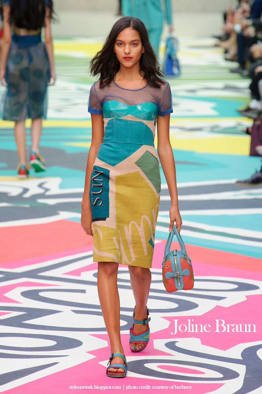 Joline Braun at Burberry Prorsum Womenswear Spring-Summer 2015 Collection Look