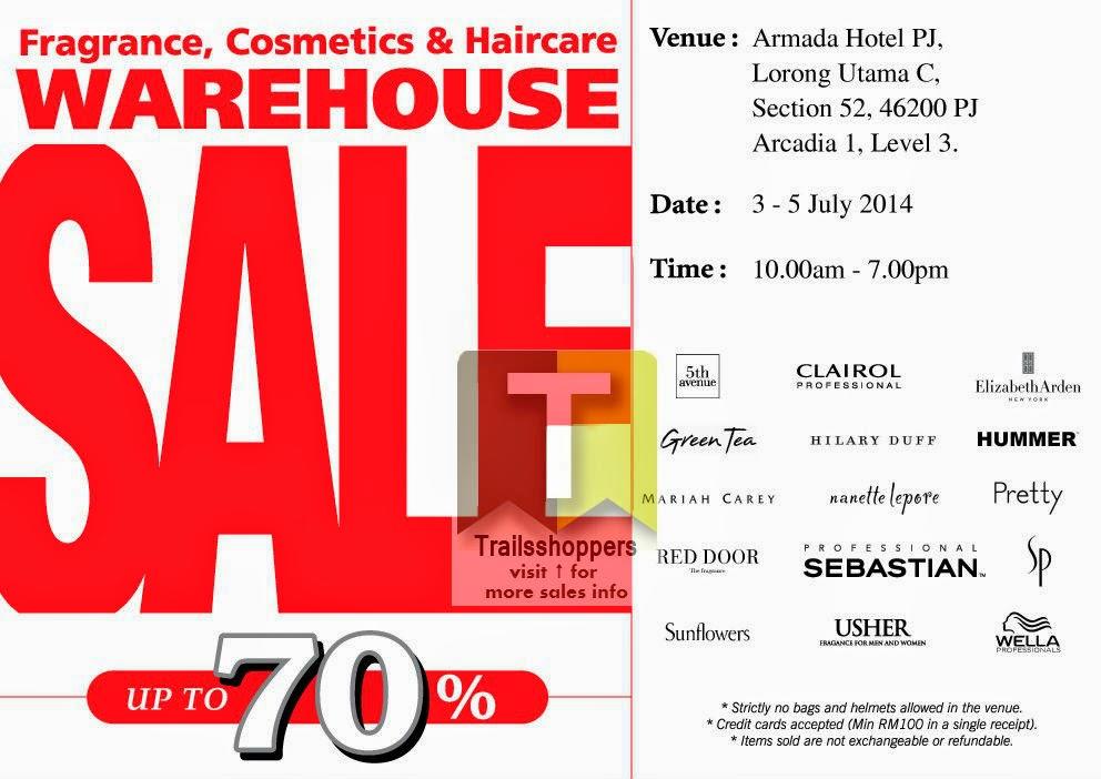 Fragrance Cosmetics Haircare Warehouse Sale Armada Hotel