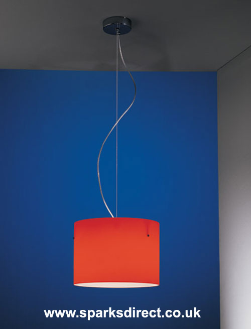 Large Red Pendant from Nemo Cassina
