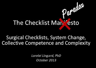 The Checklist Paradox by Lorelei Lingard