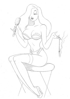 pin up girl sketch