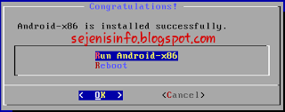 reboot android-x86 to finish installation