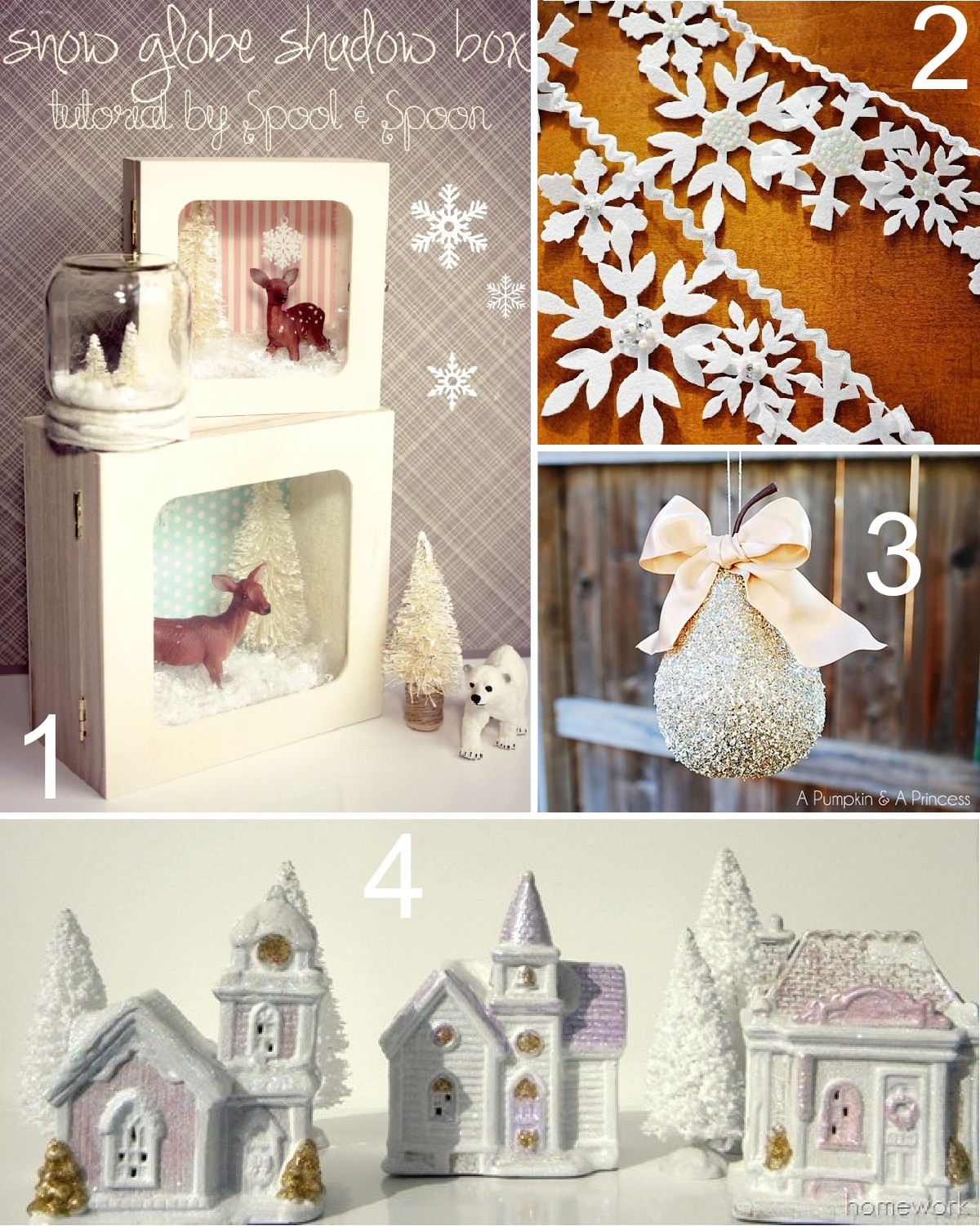 House decoration ideas christmas - 25 Winter Wonderland Craft Projects The Scrap Shoppe