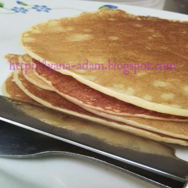 resipi pankek mudah, resipi pankek, resipi pancake