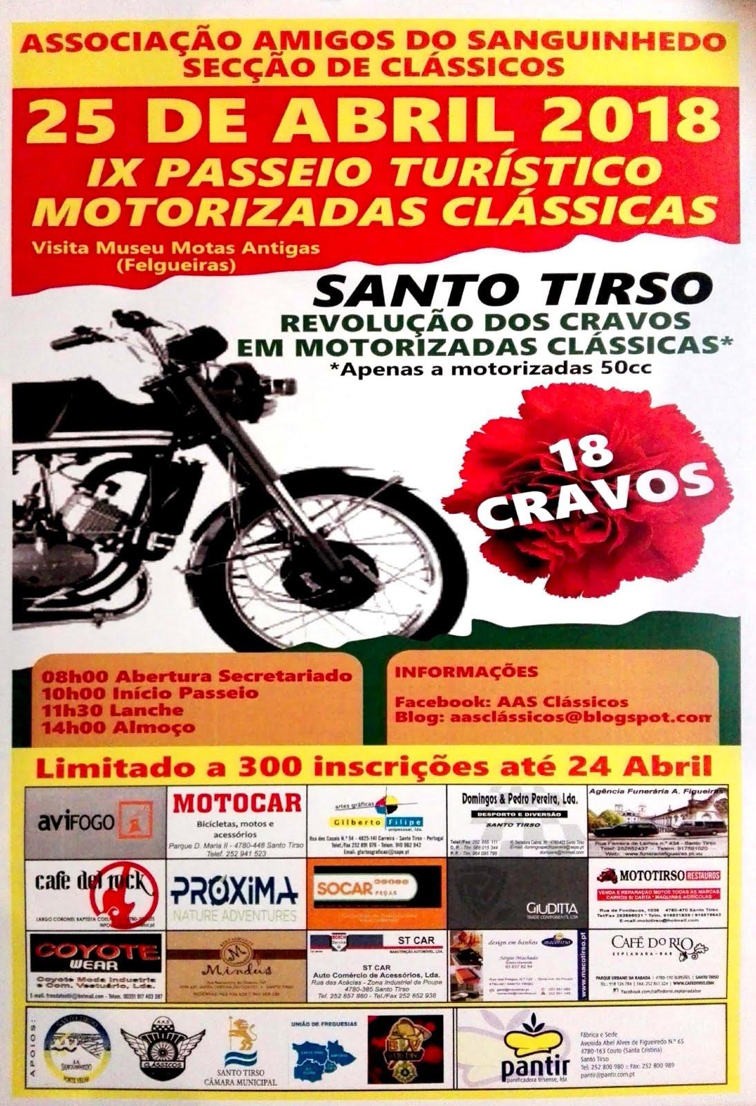 IX Passeio Turístico de Motorizadas Clássicas - 25 Abril 2018