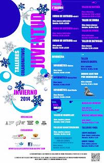 Ayuntamiento de Novelda CARTEL_CURSOS+Y+TALLERES+INVIERNO TALLERES COLABORATIVOS INVIERNO 2014