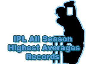 IPL All Season Highest Average Records IPL All Seasons Records Wallpapers and Logo