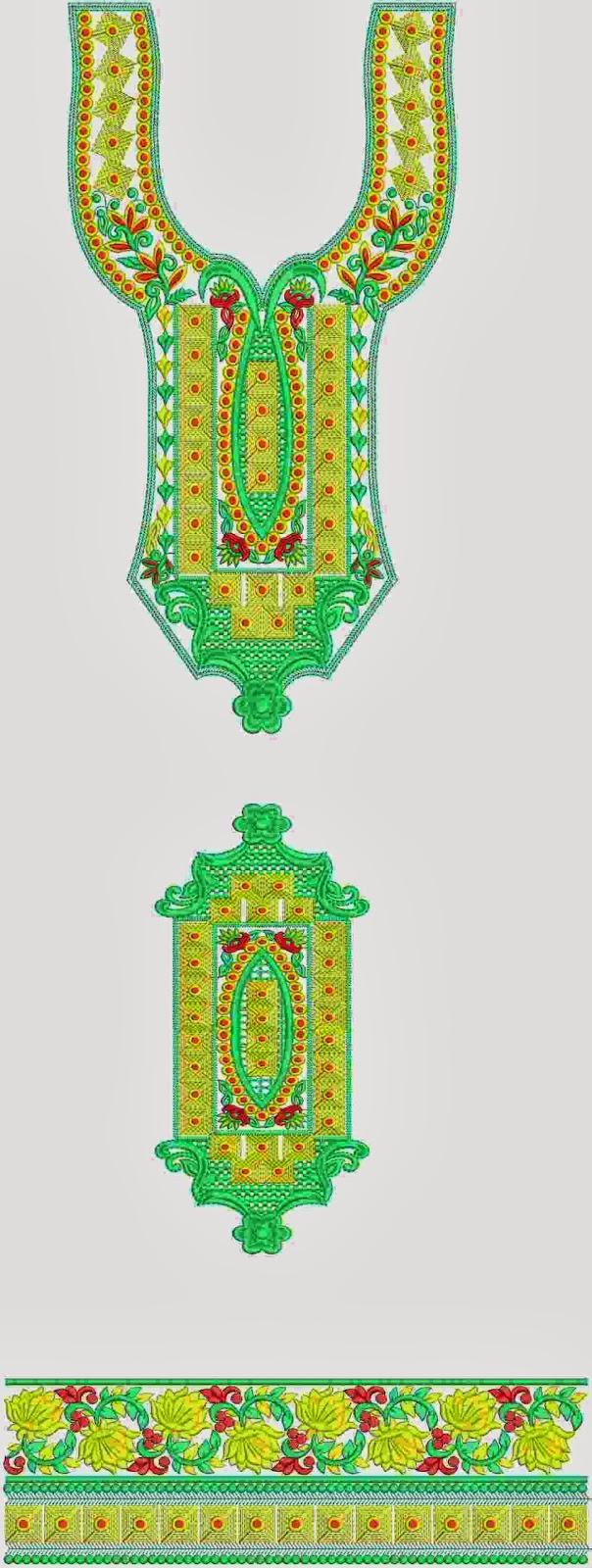 ... patch work designs also see fantastic kurti in u shaped neck design