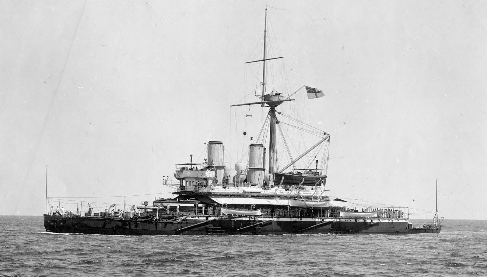 Pioneering battleship HMS