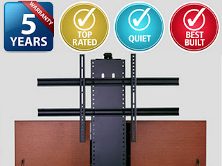 Touchstone Home Products offers a 5 year warranty on all Touchstone Whisper Lift II TV Lift Mechanisms.