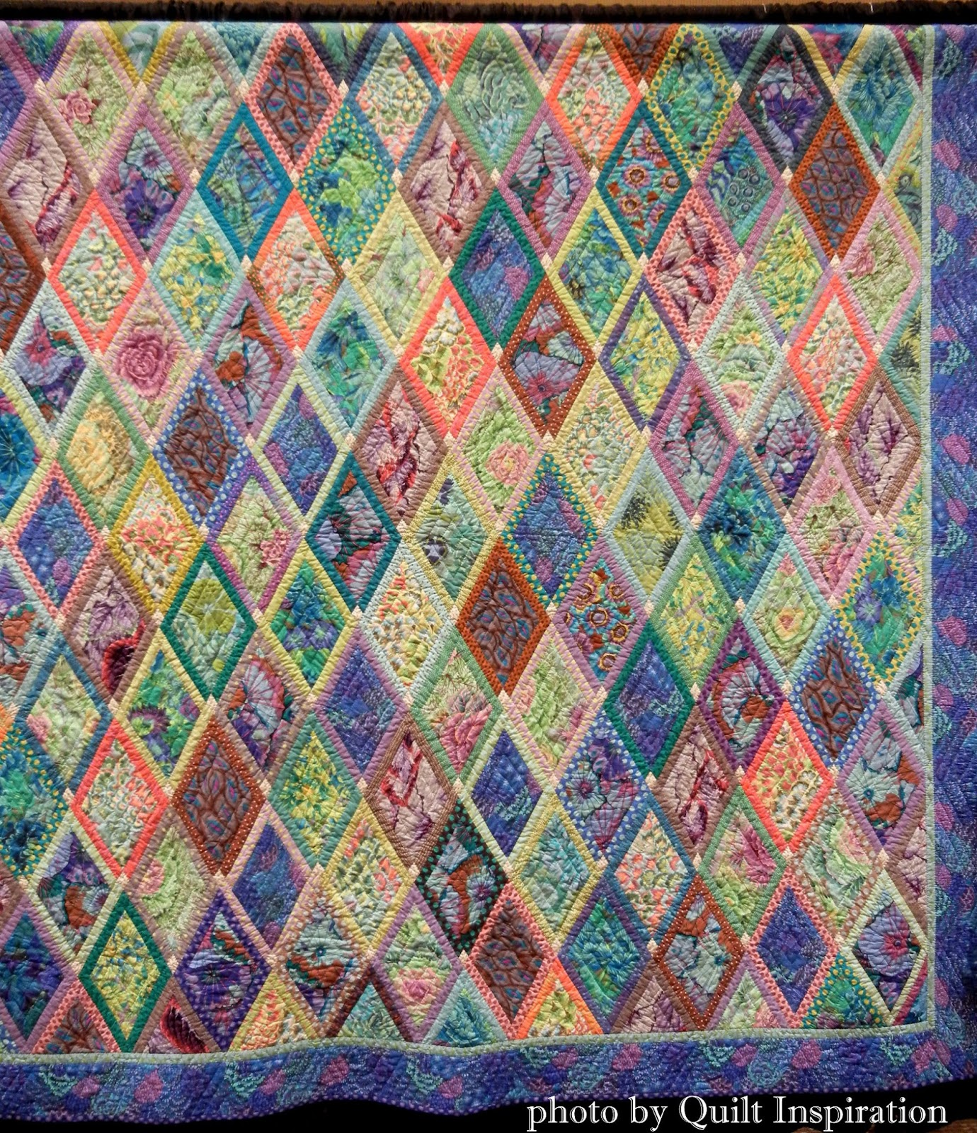Quilt Patterns And Fabric : Quilt Inspiration: More Kaffe Fassett Quilts