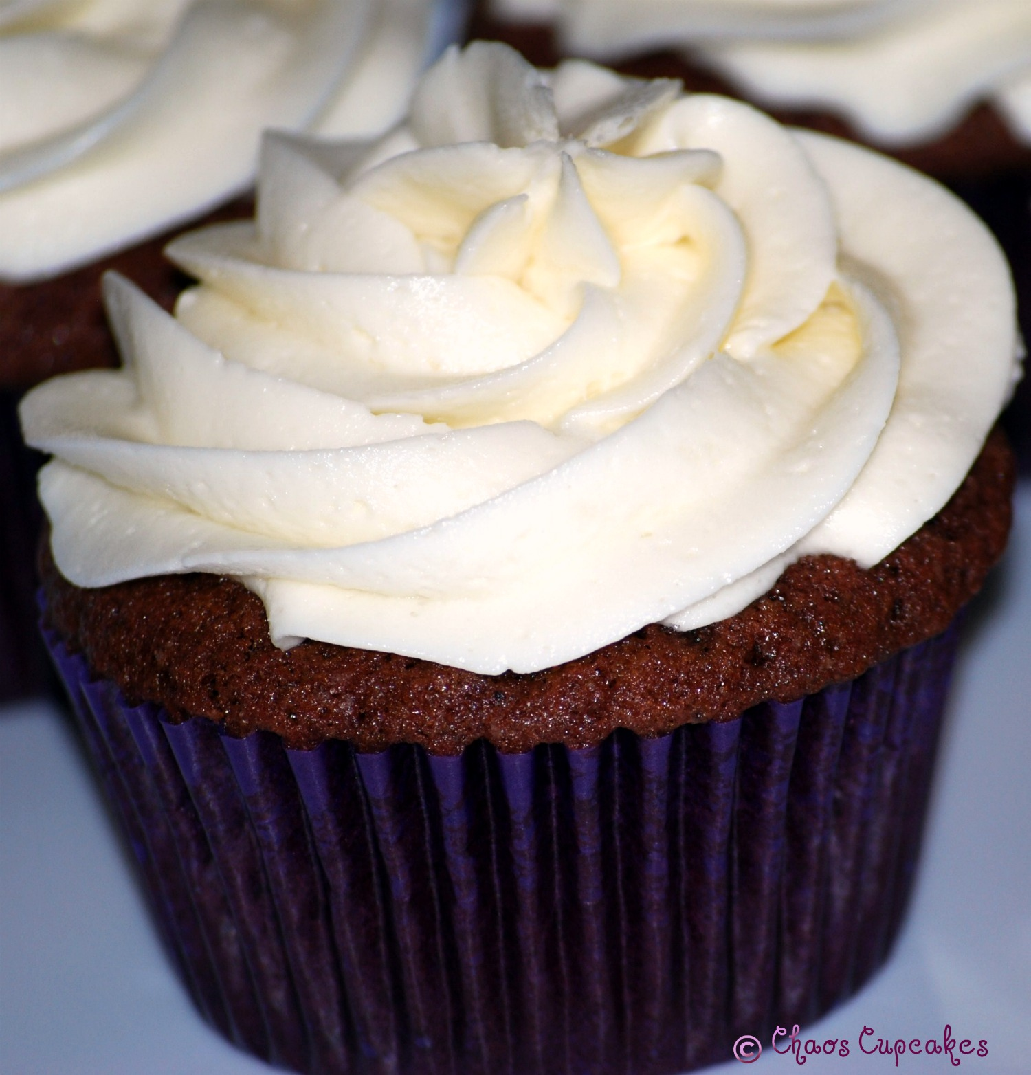 Chaos Cupcakes: Whipped Cream Filled Chocolate Cupcake