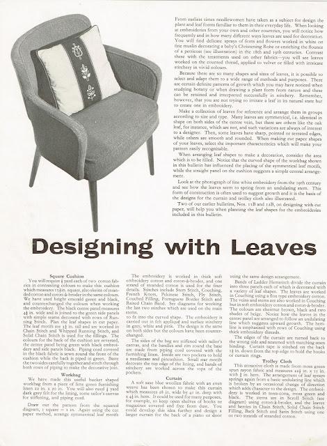"Needlework Development leaflet ""Bulletin 26B Page 1"