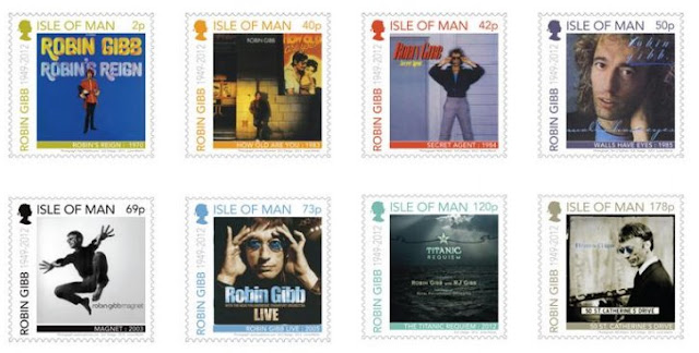 Isle of Man:  Tribute to Robin Gibb CBE - www.iomstamps.com