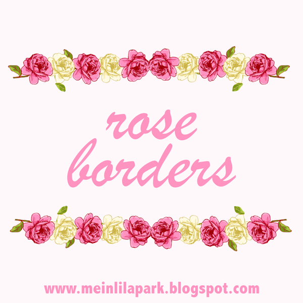Free Faux Vintage Rose Borders Roses Scrapbooking Embellishment With Transparent Background Rosenverzierungen Freebies