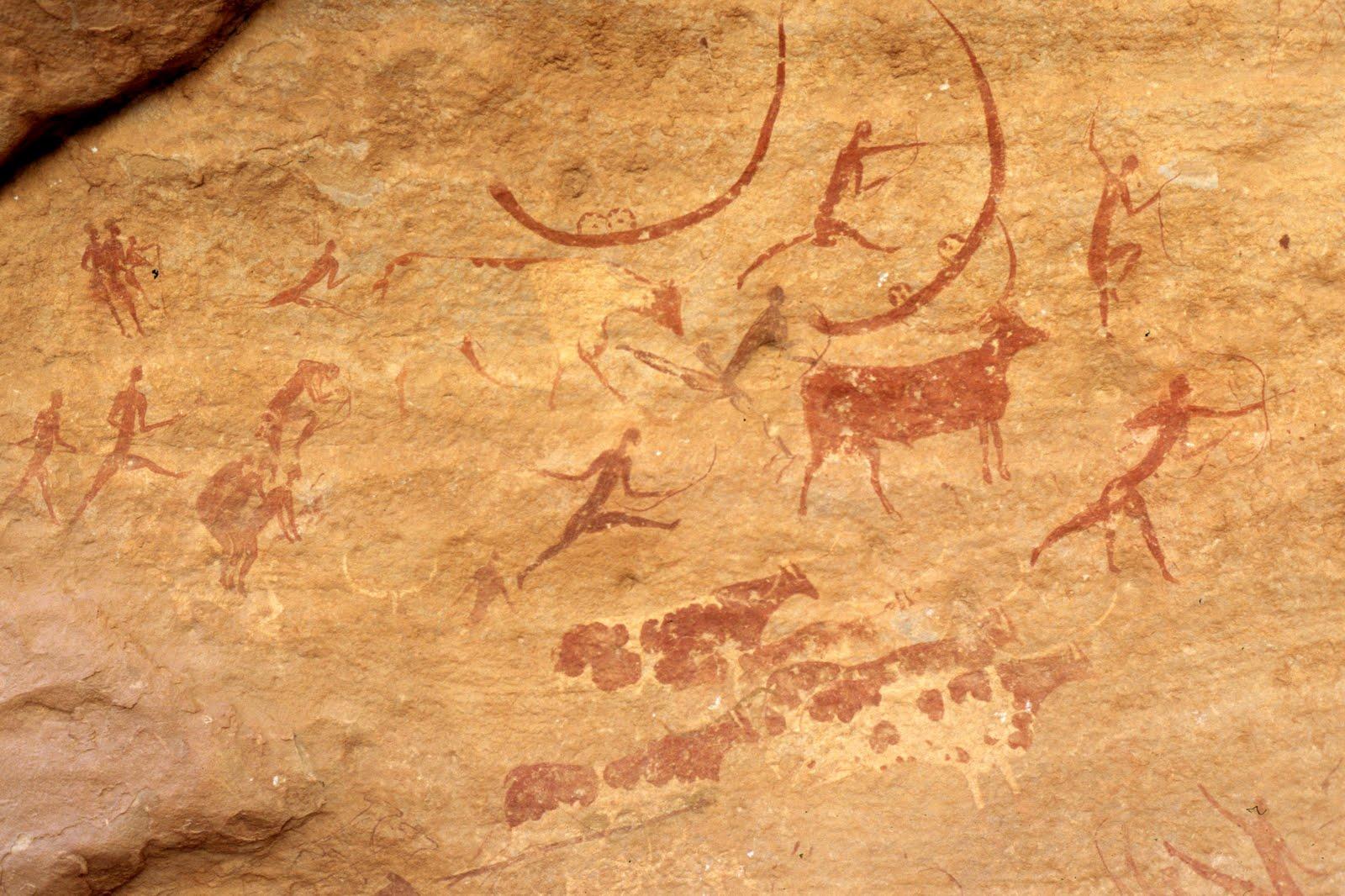 Рисунки на плато тассилин адджер