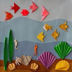 Haz clic en el dibujo y podrás realizar peces de papiroflexia.