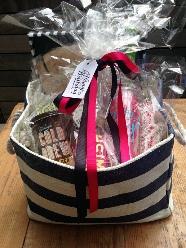 A Bar Cart In Brooklyn Nautical Inspired Summer Birthday Gift Basket
