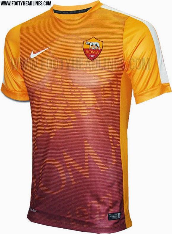 bocoran gambar jersey as roma prematch terbaru musim depan 2015/2016