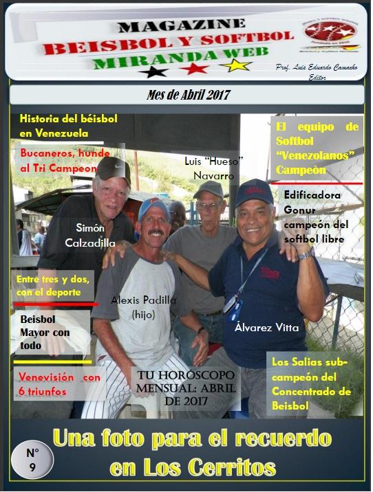 Magazine Beisbol y Softbol Miranda Abril 2017