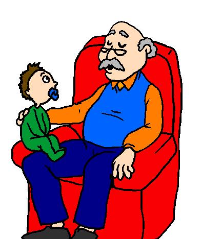 Dia dos Avós desenho colorido
