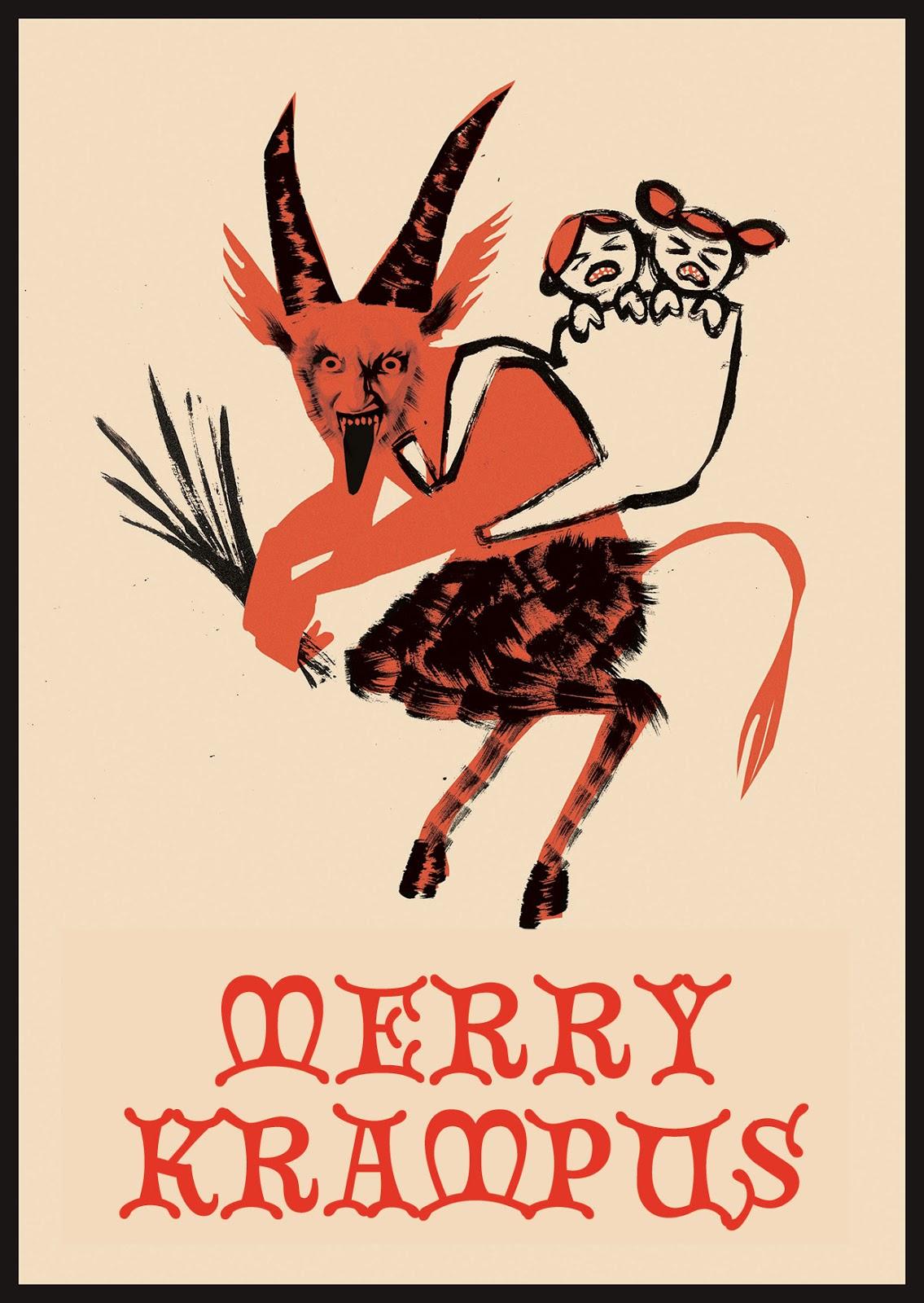 Kim Thompson Illustration: CREEPY CHRISTMAS GREETINGS CARDS