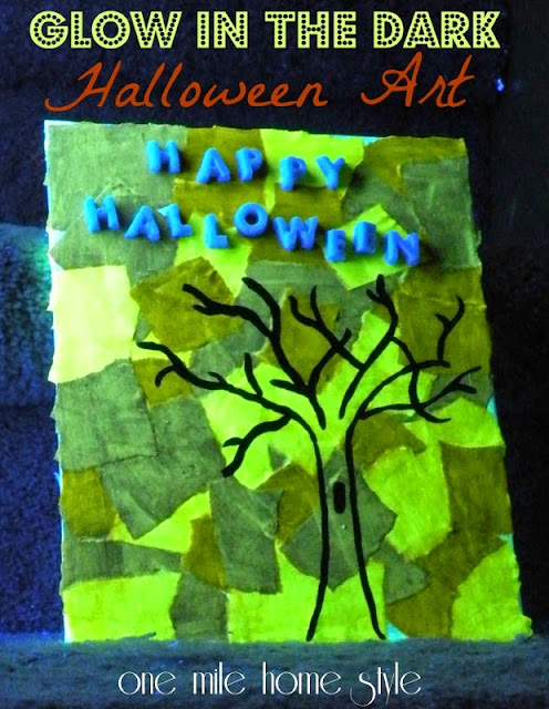 Glow In The Dark Halloween Art with Mod Podge