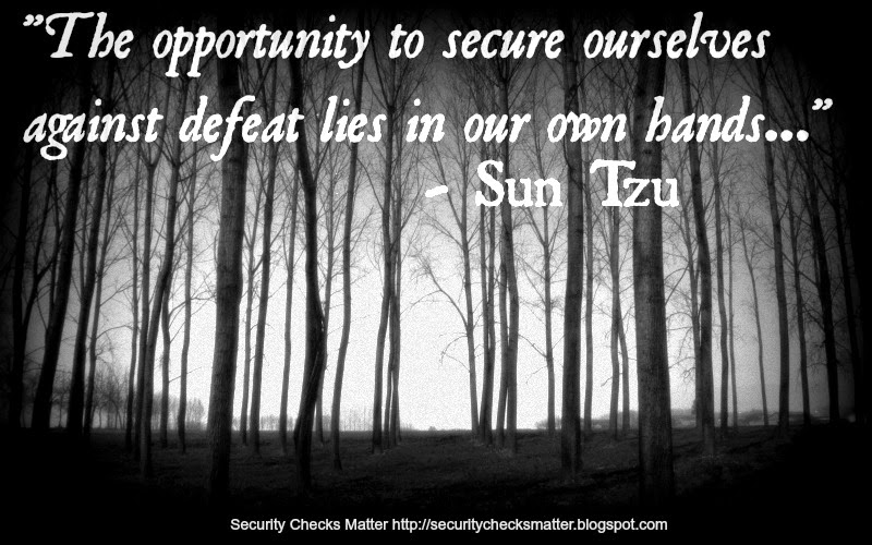 security checks matter Sun Tzu poster