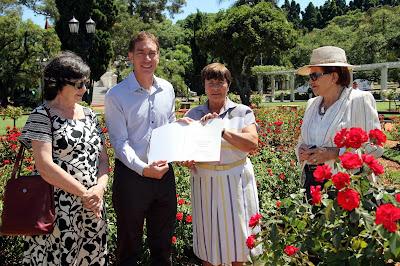 El Rosedal porteño recibió el premio Jardín de Excelencia