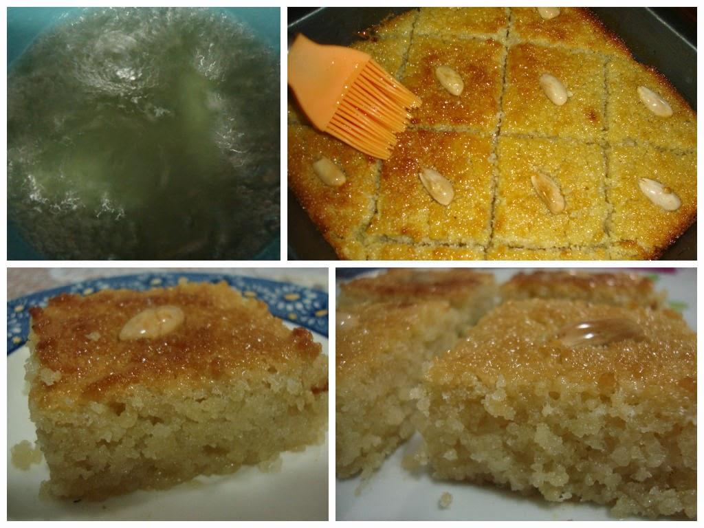 Dulce de sémola (cuscús) con miel