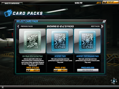 Need For Speed World - Card Packs 1