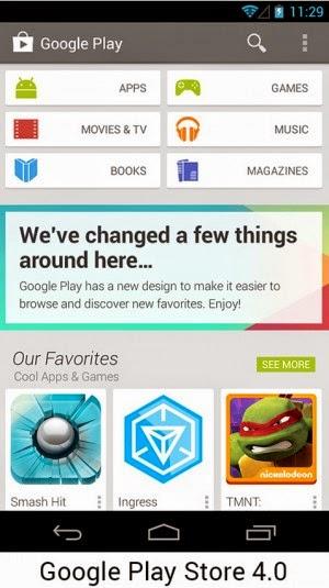 Android 4.0 Penambahan banyak kategory