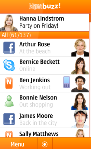Nimbuzz v1.9.4 for Java - free calls, chat, message   MyAppsEden™
